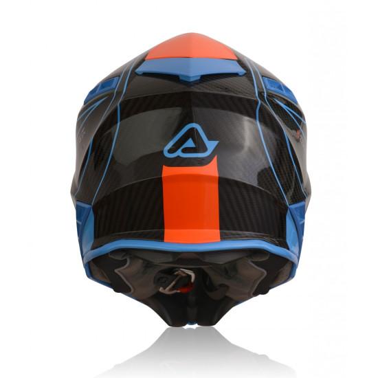 Casca Acerbis Steel Carbon Orange Blue