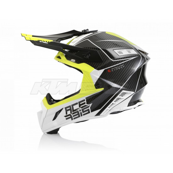 Casca Acerbis Steel Carbon White Yellow